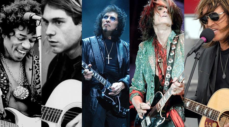 10 گیتاریست چپ دست معروف